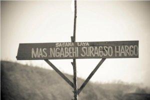 tanda tempat pemakaman mbah Maridjan..