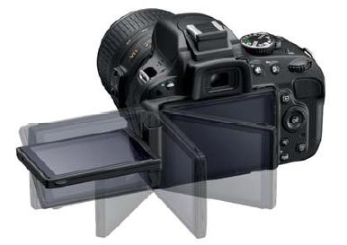 tampilan layar swivel D5100