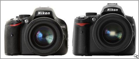 D5100 (kiri) dan D5000 (kanan)
