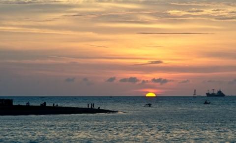 sunset time..
